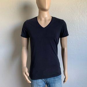 Diesel black v-neck t-shirt size Large